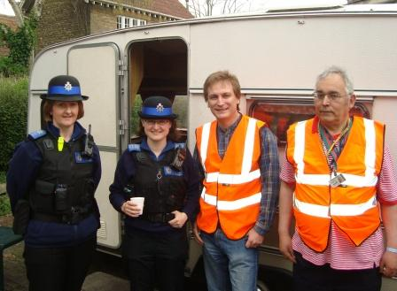 PCSOs and volunteers Lutz and Andrew