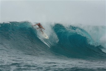 Phil Williams surfing
