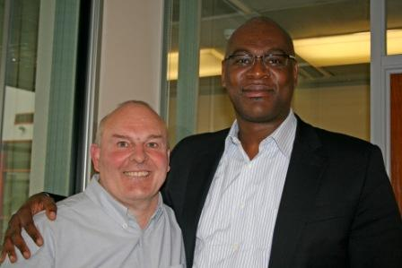 Roy Crowne and Pastor Agu