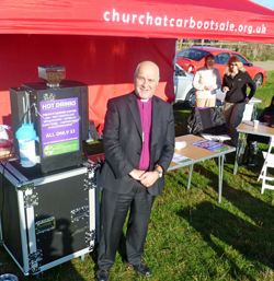 Chelmsford Bishop visits Church at Car Boot Sale