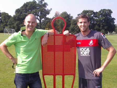 Andy Rimmer and Striker Michael Symes