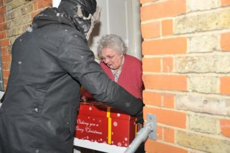 Pensioner receiving hamper