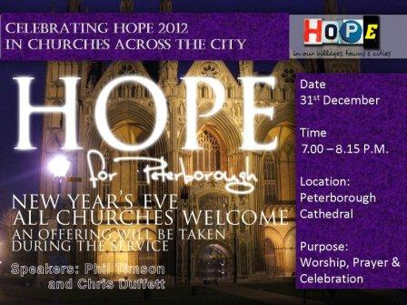Hope Together : Peterborough New Year prayer + vision for 2014
